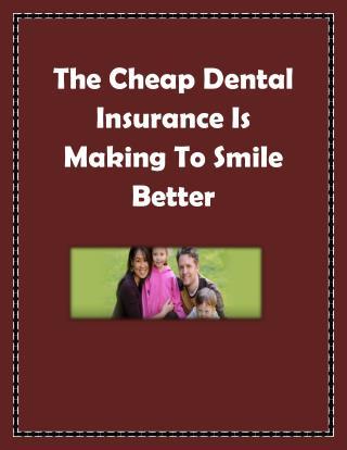 independent dental insurance