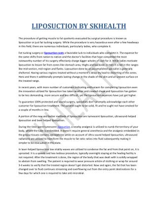 LIPOSUCTION BY SKHEALTH