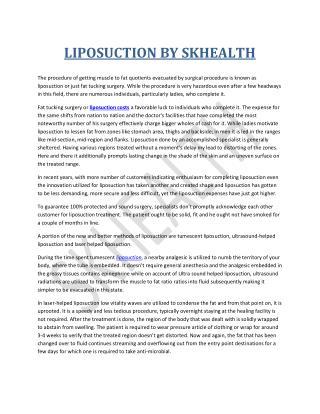 LIPOSUCTION BY SKHEALTH