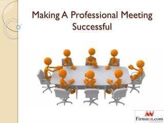 Making a Professional Meeting Successful