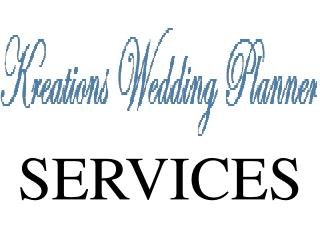 Kreations Wedding Planner - Services