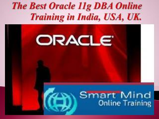 The Best Oracle 11g DBA Online Training in India, USA, UK.