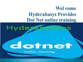Dot net online training in UK