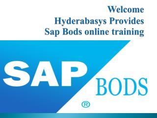 sap bods online training in UK