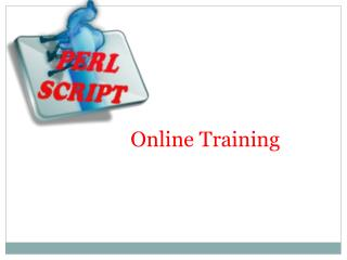 The Best Perl Scripting Online Training With Certification