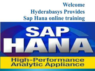 sap hana online training in UK