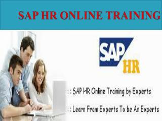 SAP HR Online Training Courses in INDIA, USA, UK,