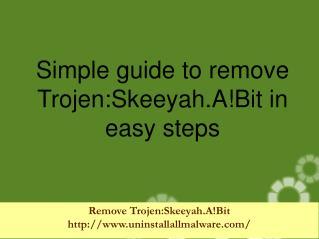 Remove Trojen:Skeeyah.A!Bit immediately from the PC