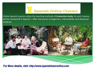 Online Private Spanish Lessons