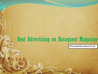 Advertising analysis on DataQuest Magazine