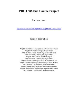 PROJ 586 Full Course Project