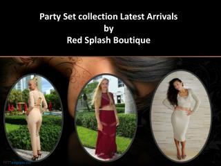 Party set collection latest arrivals by red splash boutique
