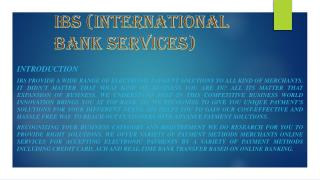 Electronic Payment Solutions with IBS