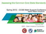 Assessing the Common Core State Standards
