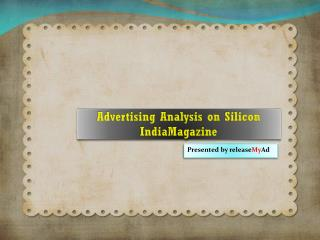 Advertising on Silicon India Magazine