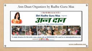 Ann Daan Organizes by Radhe Guru Maa