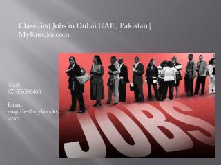 Classified Ads in UAE | MyKnocks.com