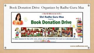 Book Donation Drive Organizes by Radhe Guru Maa
