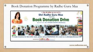 Book Donation Programme by Radhe Guru Maa