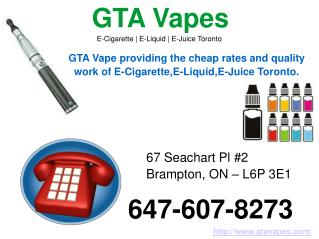 Gta Vapes – Buy Online E-Cigarette, E-Juice & E-Liquid Toronto