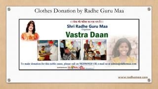 Clothes Donation by Radhe Guru Maa