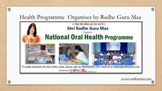 Health Programme Organizes by Radhe Guru Maa