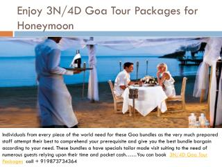 Enjoy 3n/4d goa tour packages for honeymoon