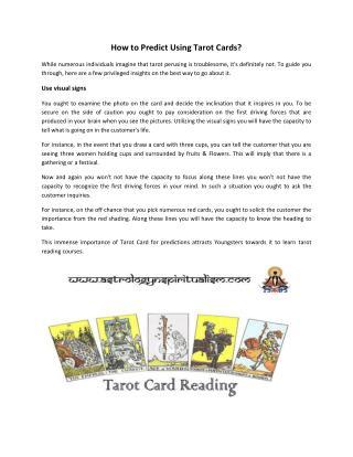 Learn Tarot Card Time Caluculation Technique Courses