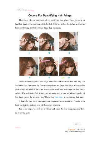 Course For Beautifying Hair Fringe