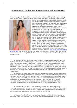 Phenomenal Indian wedding saree at affordable cost