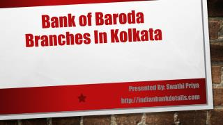 Bank of Baroda Branches In Kolkata