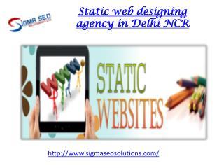 Static web designing agency in Delhi NCR