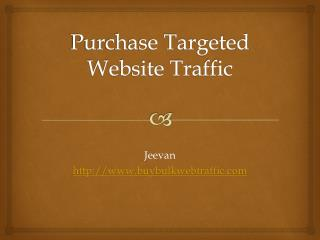 Purchase Website Targeting To Your Website