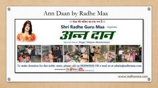 Ann Daan by Radhe Maa