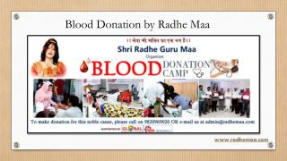 Blood Donation by Radhe Maa