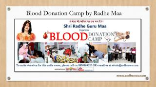 Blood Donation Camp by Radhe Maa