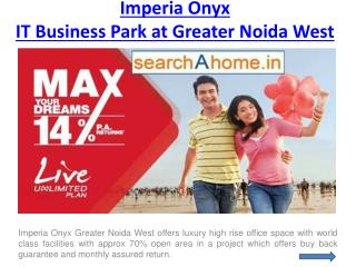 Imperia Onyx Commercial Project in Greater Noida West