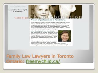 Top Family Law Lawyer in Toronto|Best Family Law Lawyer in Toronto:freemychild.ca/