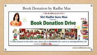 Book Donation by Radhe Maa
