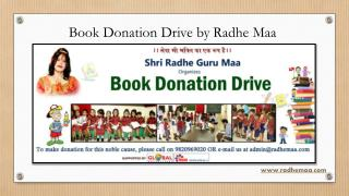 Book Donation Drive by Radhe Maa