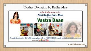 Clothes Donation by Radhe Maa