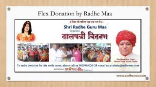 Flex Donation by Radhe Maa