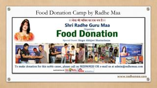 Food Donation Camp by Radhe Maa