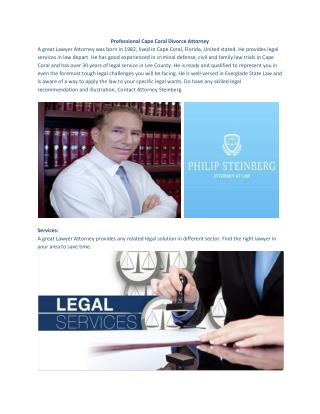 Professional Cape Coral Divorce Attorney