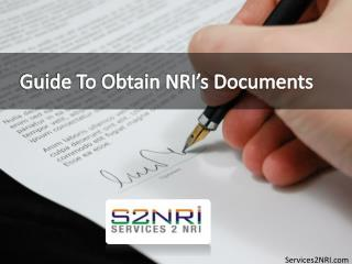 Guide to Obtain NRI's Documents