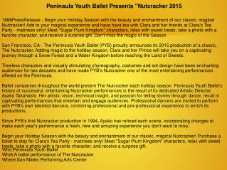 "Peninsula Youth Ballet Presents ""Nutcracker 2015"""