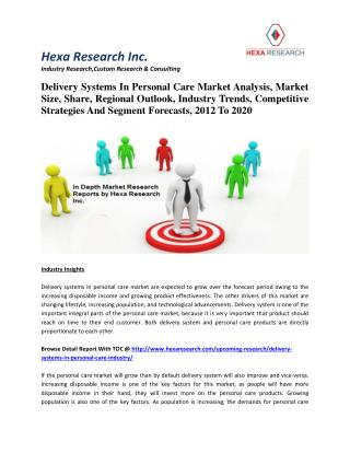Delivery Systems In Personal Care Market Analysis, Market Size, Share, Regional Outlook, Industry Trends, Competitive St