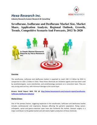 Sevoflurane, Isoflurane and Desflurane Market Size, Market Share, Application Analysis, Regional Outlook, Growth, Trends