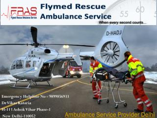 Rapid action taking ambulance service provider Delhi call FRAS