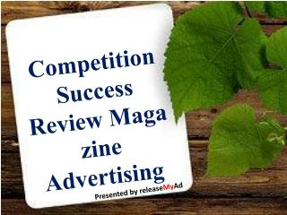 Stating a Booking Ads on Competition Success Review Magazine